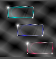 Set of transparent banners vector