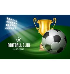 Soccer card vector