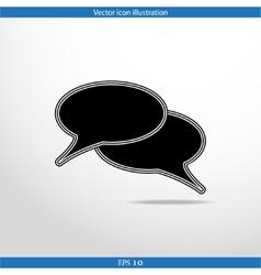 speech bubble web icon vector image