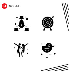 Stock icon pack 4 line signs and symbols vector