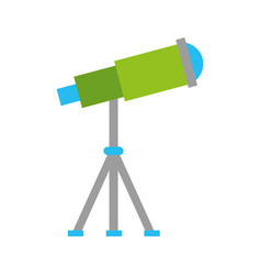 telescope device spacial icon vector image