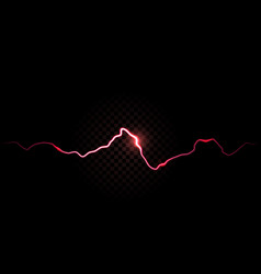thunder spark electric red flash background vector image