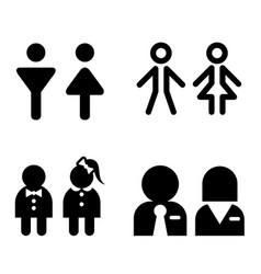 Toilet icon great for any use symbol set vector