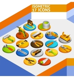 Tools Isometric Icons vector image