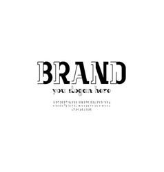 Trendy modern black font alphabet vector