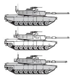 Us main battle tank vector