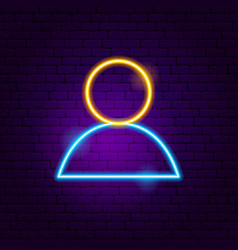 user neon sign vector image