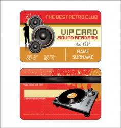 Vip house club card vector