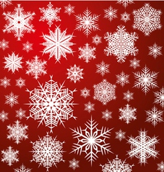 white snowflakes on red vector image