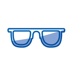 blue shading silhouette of sunglasses icon vector image vector image