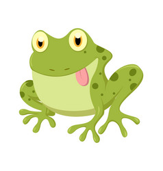 cute frog cartoon vector image
