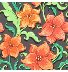 flower pattern lily vector image vector image