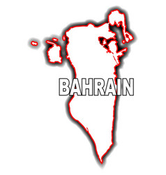 outline map of bahrain vector image