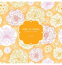 Warm day flowers frame seamless pattern background vector image