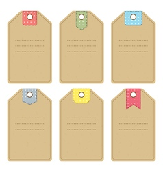 Carton gift or price tags vector image vector image