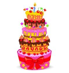 Celebratory cake vector image