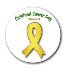 childhood cancer awareness cancer childrens day vector image