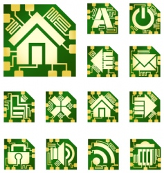 chip-style icons vector image