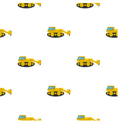 excavator with hydraulic hammer pattern flat vector image vector image