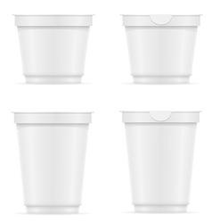 plastic container of yogurt or ice cream 10 vector image
