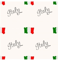 Seamless pattern Italy flag painted by brush hand vector image vector image