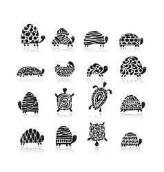 turtle logo set for your design vector image