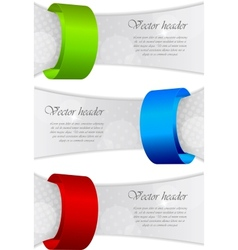 abstract banners vector image