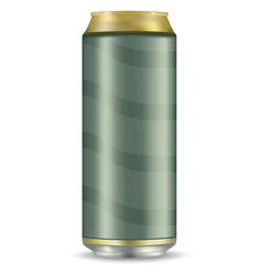 blank beer can isolated on white background vector image