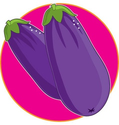 eggplant graphic vector image