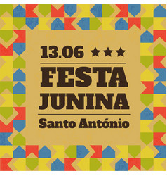 festa junina traditional brazil june vector image