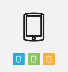 of trade symbol on cellphone vector image
