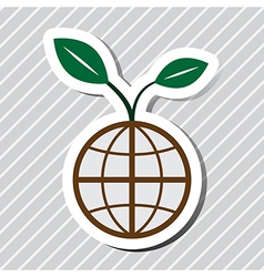 world plant vector image