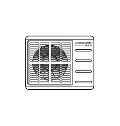 air conditioning outdoor unit vector image vector image