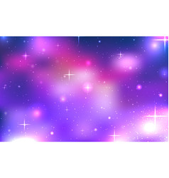 background of space with stars and nebula vector image vector image