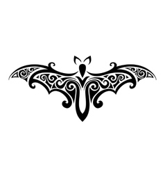 bat Balck and white vector image vector image