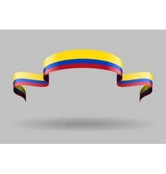 Colombian flag background vector image vector image