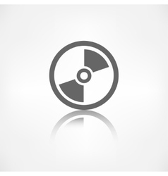 Compact disk web icon musical cd vector