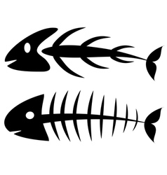 Fishbone vector image vector image