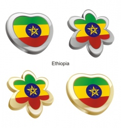 flag of Ethiopia vector image vector image