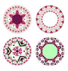 set of abstract circular patterns vector image