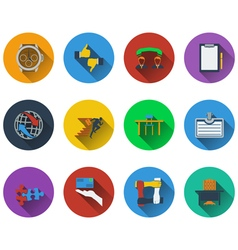 Set of business icons in flat design vector image vector image