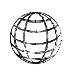 sphere web networking vector image vector image
