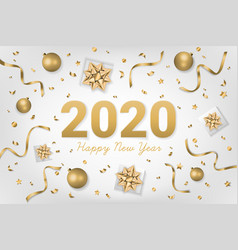 2020 happy new year text vector image