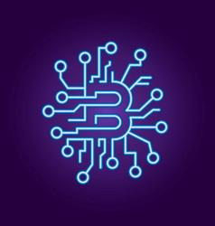 abstract concept of bitcoin technology virtual vector image