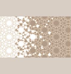 Arabesque disintegration border pattern vector