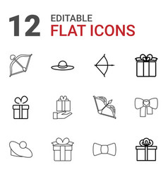 Bow icons vector