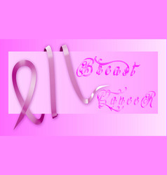 breast cancer awareness ribbon background - file vector image
