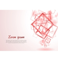 Bright red squares design vector image
