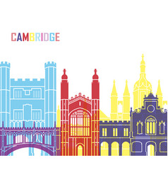 Cambridge skyline pop vector