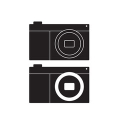 camera icon flat sign vector image